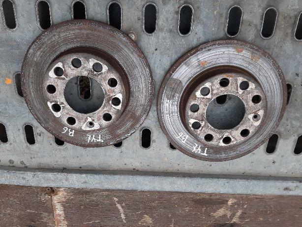Tarcze Hamulcowe Tył Audi a4 b6 BDB Stan 1.9 tdi Komplet WYSYŁKA