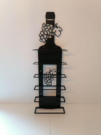 stojak na wino loft metal ściana dekoracja regał półka rustyklany