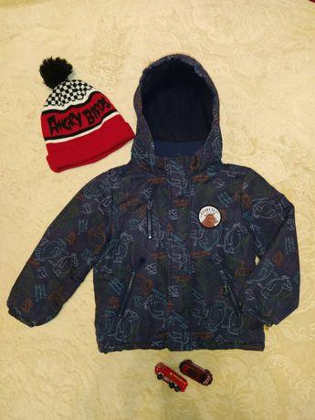 Куртка демисезонная рост 104-110 см + шапка H&M в подарок