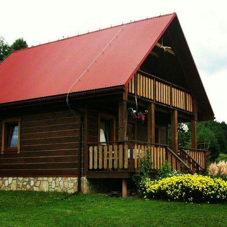 SAMODZIELNY Duży Domek BIESZCZADY, Górska chatka jesień w Bieszczadach