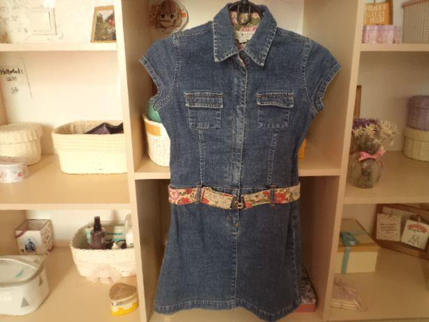 Платье джинсовое,8-9лет