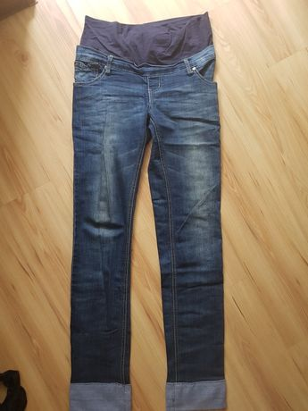 Spodnie, jeansy ciążowe, rozm xl, dla wysokich, długa nogawka
