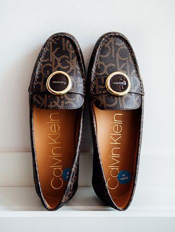 Buty damskie Calvin Klein, rozmiar: 39, mokasyny, lordsy, NOWE
