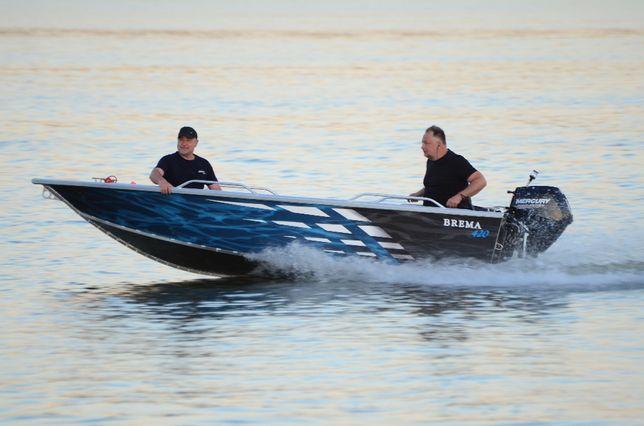 łódź aluminiowa, łódka wędkarska Brema 455V