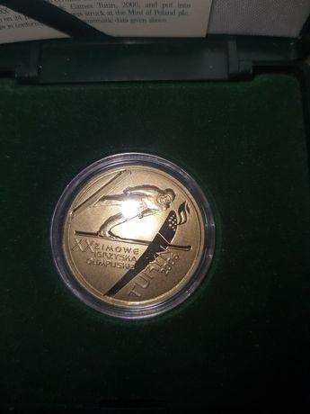 Sprzedam złotą monetę20 zimowe igrzyska olimpijskie Turyn 200 zł