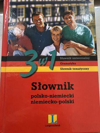 Slownik niemiecko polski polski niemiecki 3w1 Langenscheidt