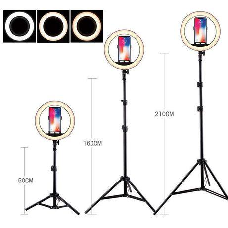 Кольцевая лампа для предметной съемки 26 см светодиодная со штативом 2