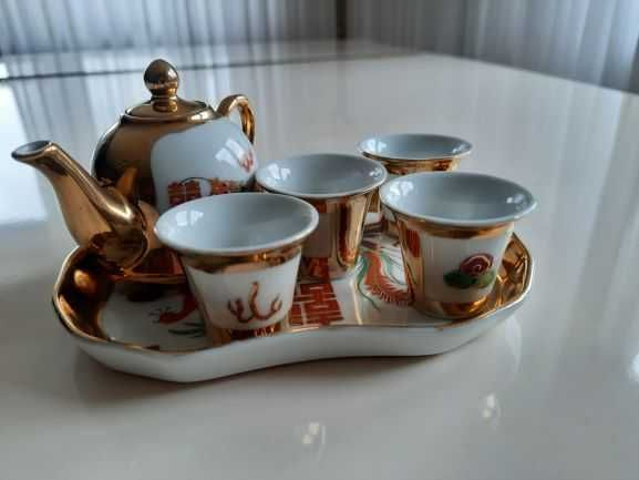 Chińska porcelana zestaw kawowy mokka antyk PRL