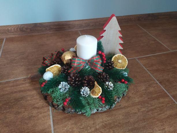 Stroik Świąteczny. Piękne ozdoby świąteczne. 33cm.