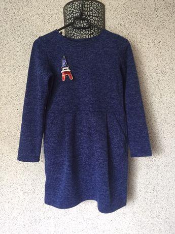 Утепленное платье для девочек, тепле плаття на рост 134-140 на 7-9 лет
