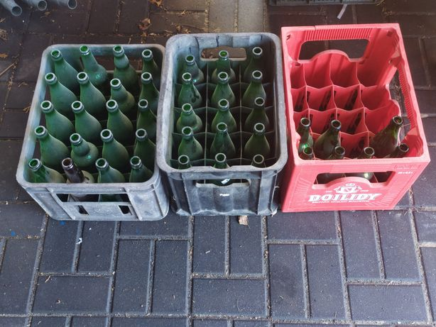 Skrzynki  z butelkami