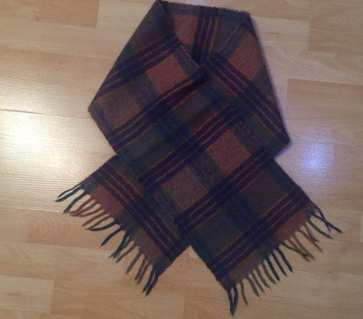 Шерстяной мужской шарф 130*23 см