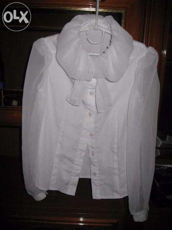 блуза школьная для девочки р.134, хлопок 96%