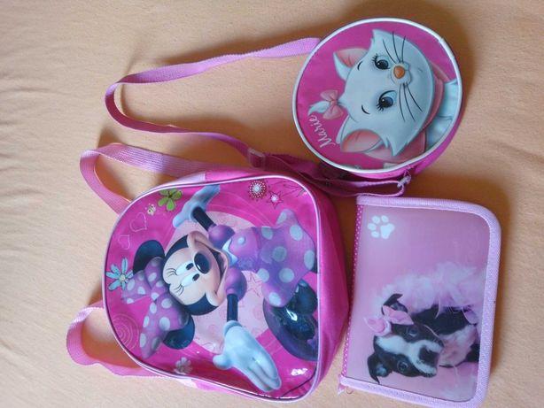 Zestaw plecak, torebka i piórnik dla dziewczynki