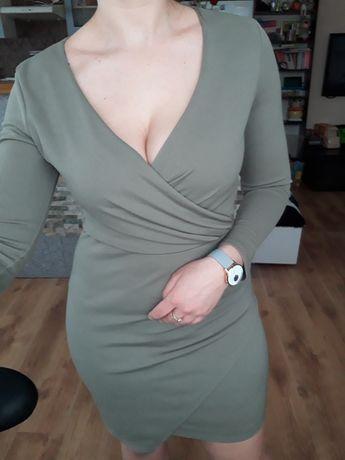 seksowna sukienka S - khaki - 8.99zł wysyłka
