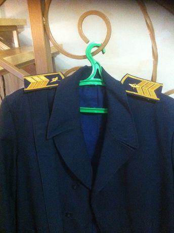 Гражданская авиация (плащ форменный, синий). Сделано в СССР.