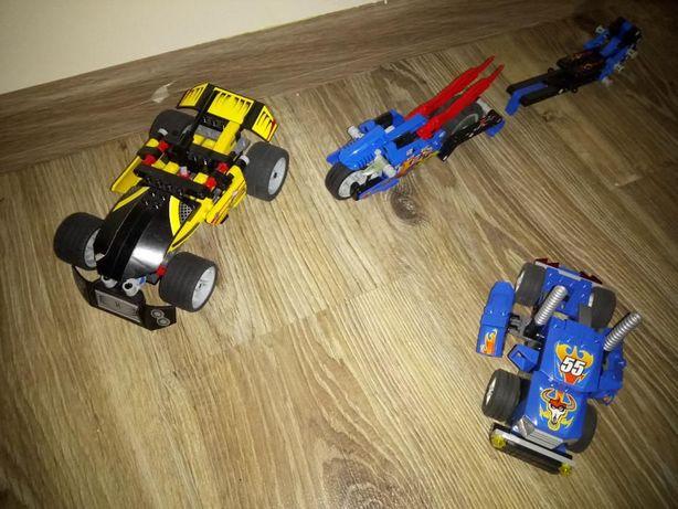 Lego Racers - 3 auta + motor - 8668, 8646, 7967, 7971 - auto z napędem
