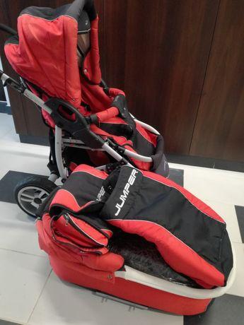 Komplet: wózek dziecięcy spacerówka i gondola z cieplanym pokrowcem