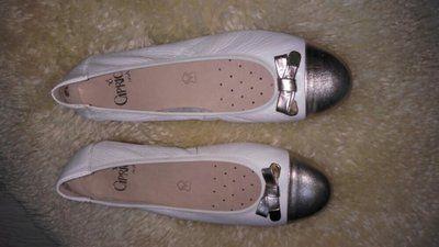 Caprice балетки кожа мягкая 37-37.5 р по ст 24.5 см ширина 8 см