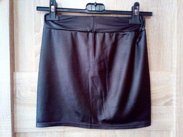 Spódnica mini skóra ekoskóra czarna rock metal goth emo alternative