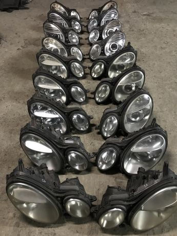 Фары, фара xenon, ксенон, галоген Mercedes W211 e-class, шрот Мерседес