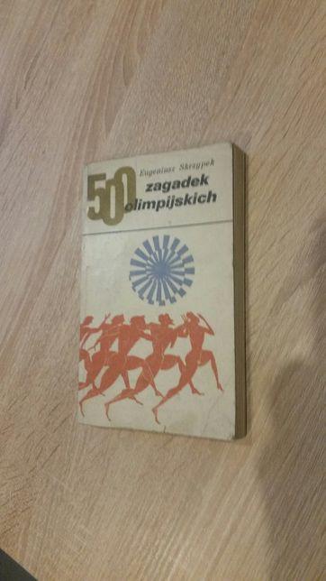 "Książka Eugeniusza Skrzypka - "" 500 zagadek olimpijskich ""."