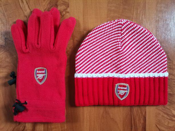 Mega zestaw uniseks czapka i rękawiczki klub Arsenal Londyn rewelacja