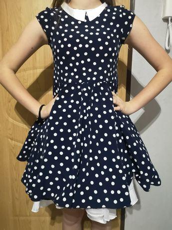 Sukienka w groszki dla dziewczynki