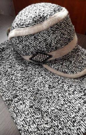 Шапка и шарф/набор