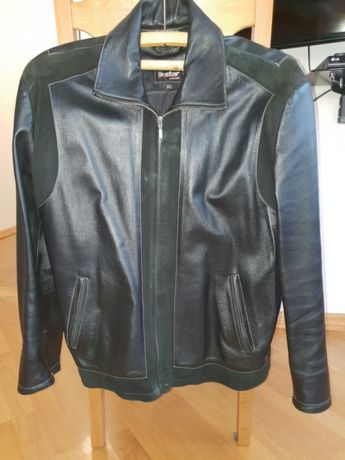 Куртка шкіряна L