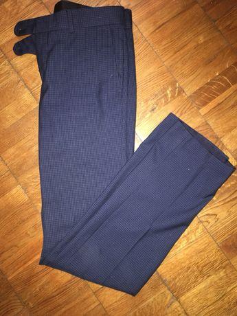 Стильные прямые синие брюки в клетку Arber размер S