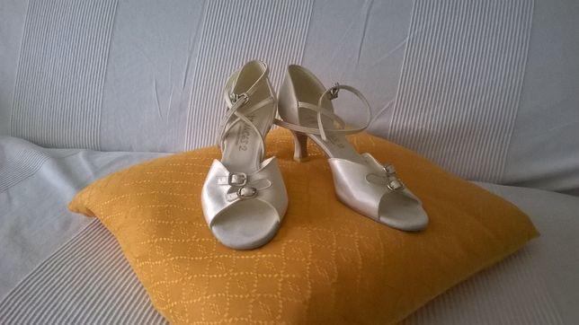 Buty ślubne taneczne Akces kremowe
