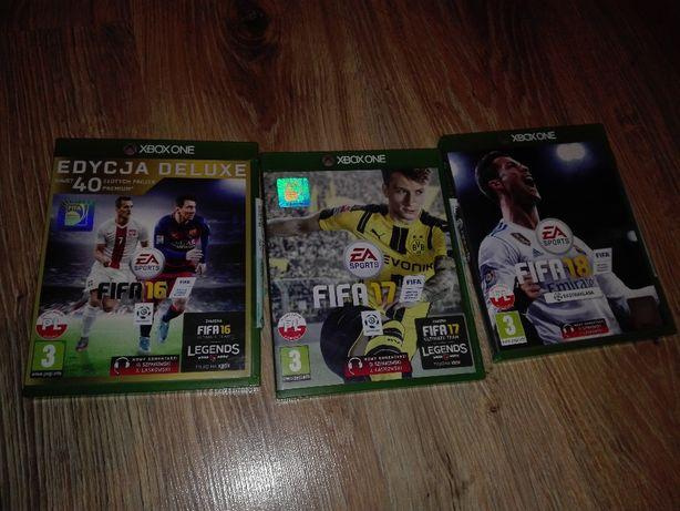 Xbox one fifa 16 17 18 sprzedam lub zamienie komplet