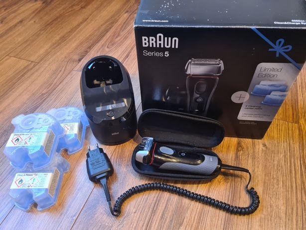 Golarka Braun series 5 5050cc stacja czyszczacja + płyn