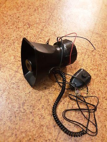 Рупор для авто с микрофоном и сереной