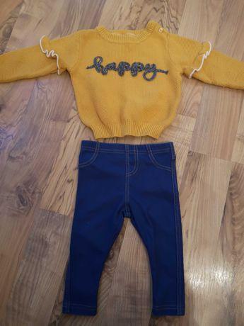 Getry + sweterek rozmiar 74