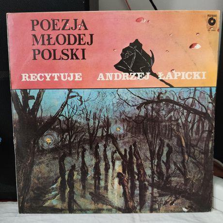 Andrzej Łapicki - poezja młodej Polski - winyl - stan: EX