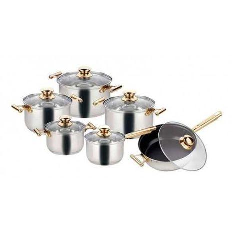 кастрюли 13 штук Посуда на любую кухню - набор, (Goldteller) комплект