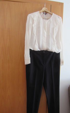 Conjunto calça e blusa Massimo Dutti, tamanhos 42