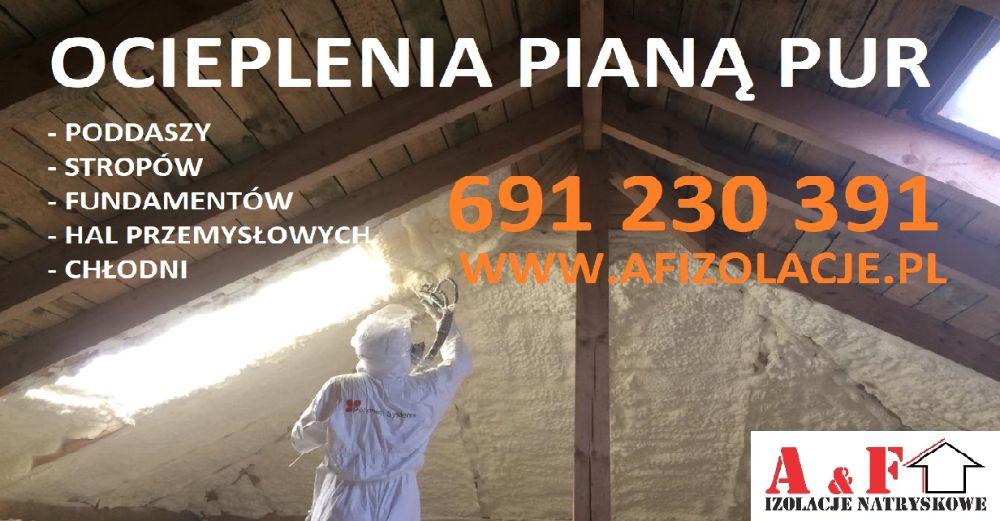 Ocieplenie pianą PUR, pianka PUR, piana PUR, ocieplenie dachu poddasza Piaseczno - image 1