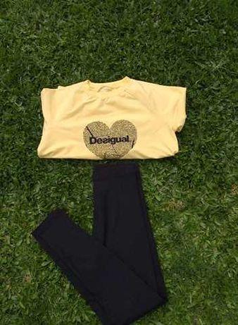 Vendo Camisola S marca Desigual + Leggins - portes grátis