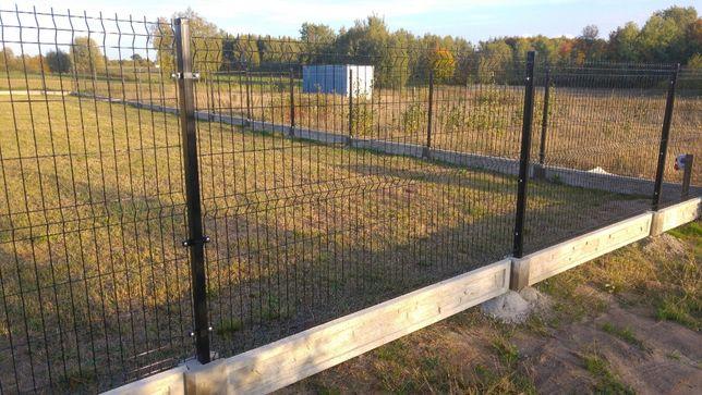 Montaż z ogrodzeniem panelowym -panel 123cm + podmurówka 25cm + montaż