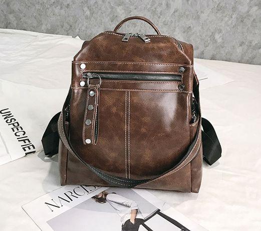 Женский рюкзак сумка трансформер 2 в 1 сумочка рюкзачок женская черный