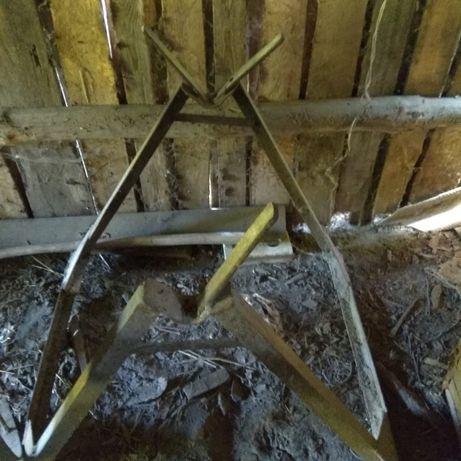 Козлы подставные металические для распилки дров