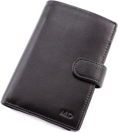 Мужской Кожаный вертикальный кошелек с блоком для документов MD Leathe