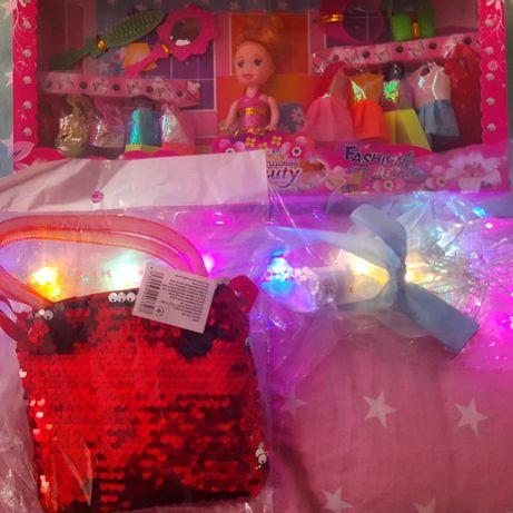 Набор кукла, сумочка, волшебная палочка