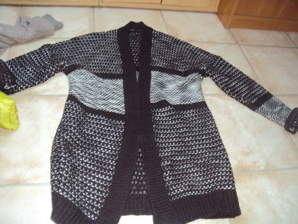 Sweter długi narzutka brązowy xl/xxl 42/44