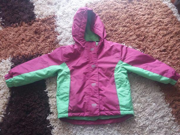 kurtka zimowa 98-104. różowo zielona dla dziewczynki. lupilu