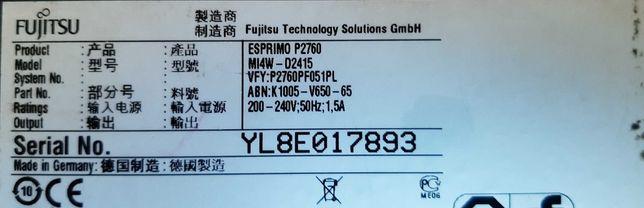 Gotowy do pracy komputer Esprimo P2760 + monitor + peryferia