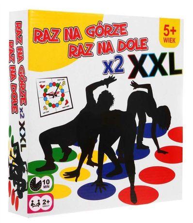 Gra Zręcznościowa Twister Zestaw Powiększony XXL Dwie Maty ZGR9011